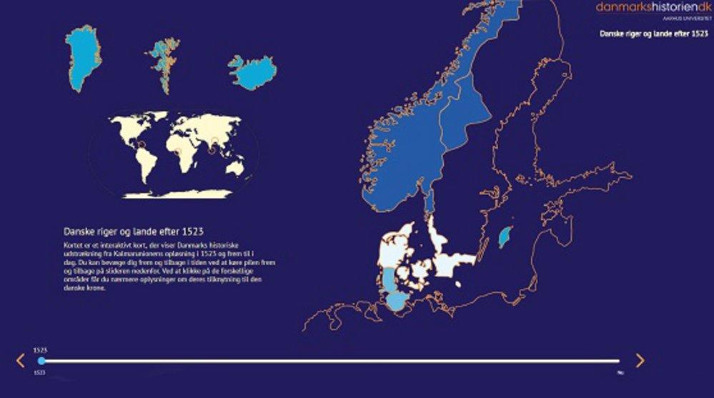 Interaktivt Danmarkskort